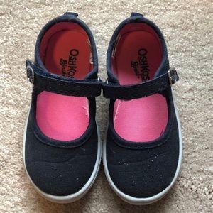 OshKosh B'gosh Navy glitter Mary Jane Shoes